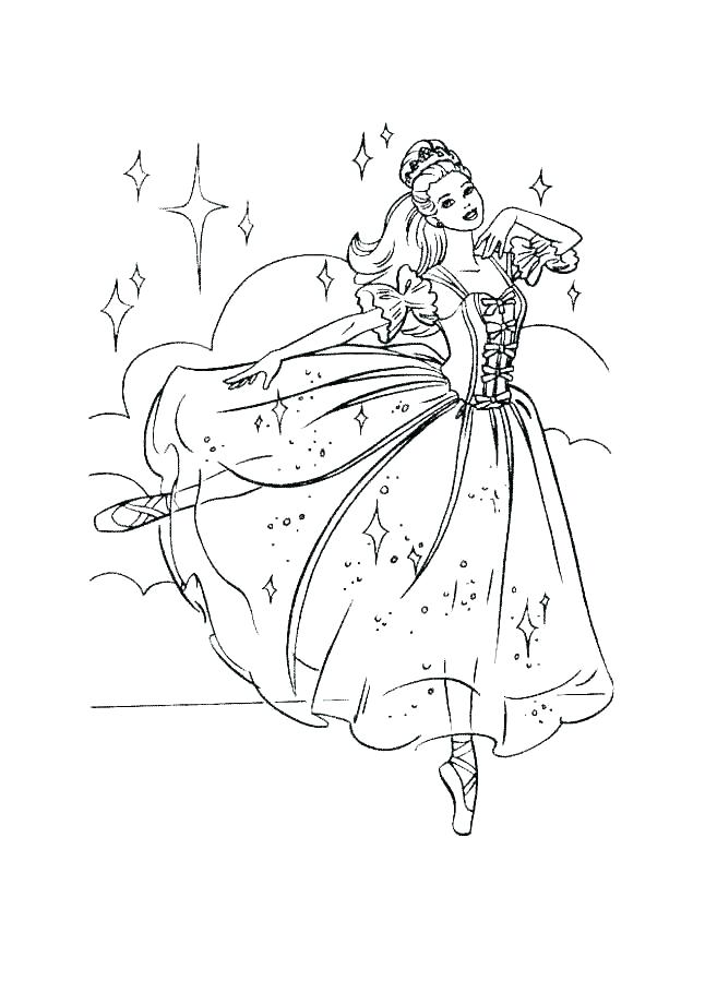 Barbie Christmas Coloring Pages at GetDrawings | Free download