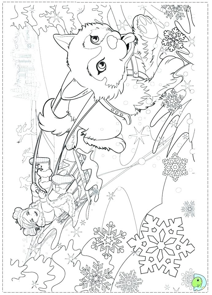 691x960 Barbie Christmas Coloring Pages To Print Drawn Class Sheets