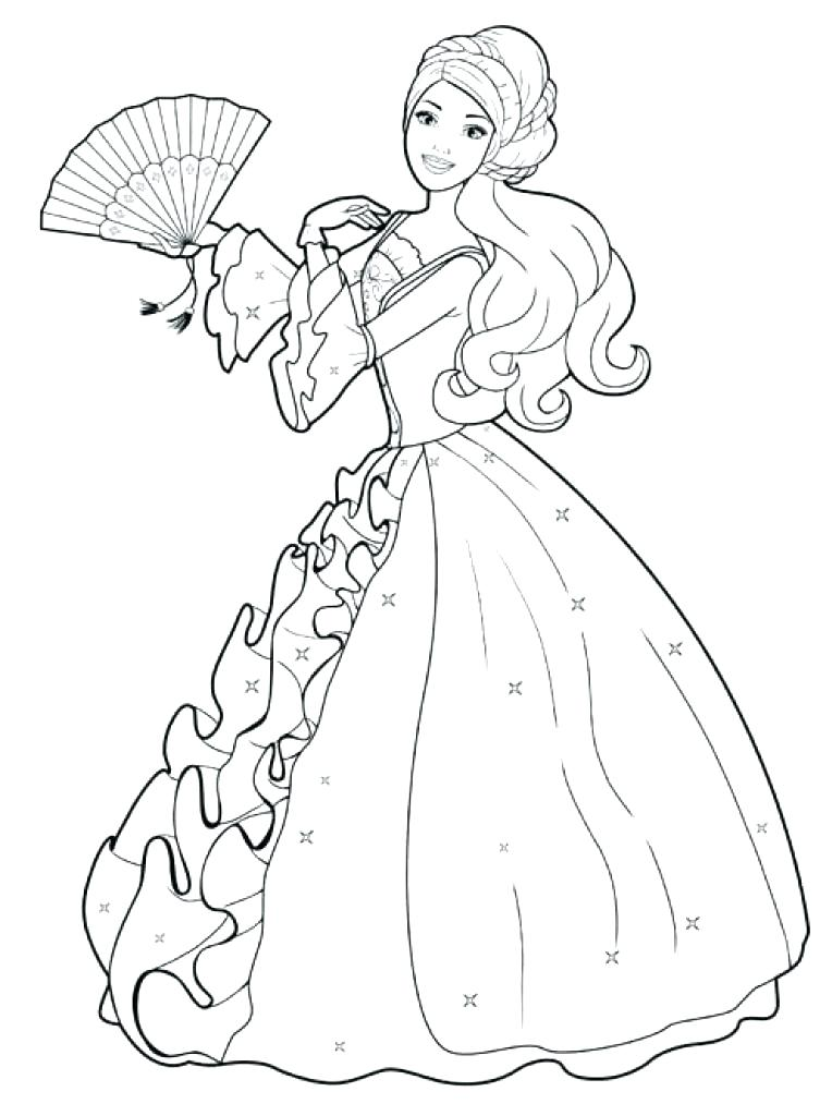 753x1024 Barbie Christmas Coloring Pages To Print Free Printable Barbie