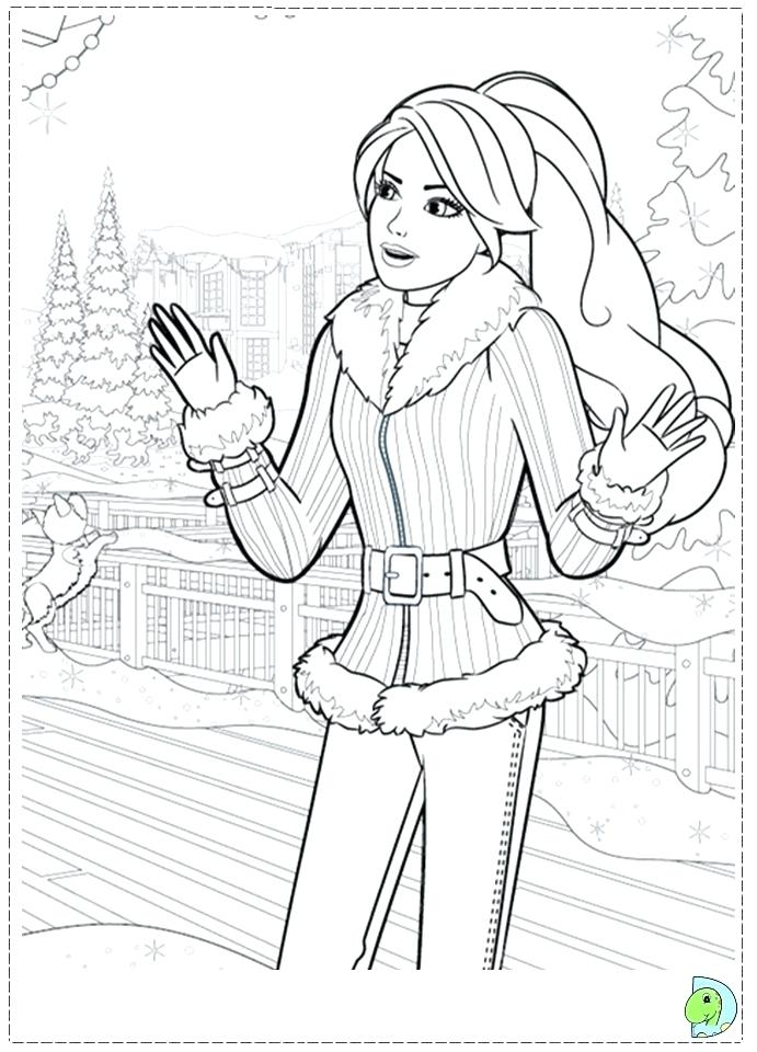 691x960 Barbie Coloring Pages For Christmas Fun For Christmas Barbie