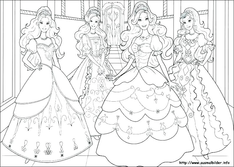 794x567 Barbie Christmas Coloring Pages