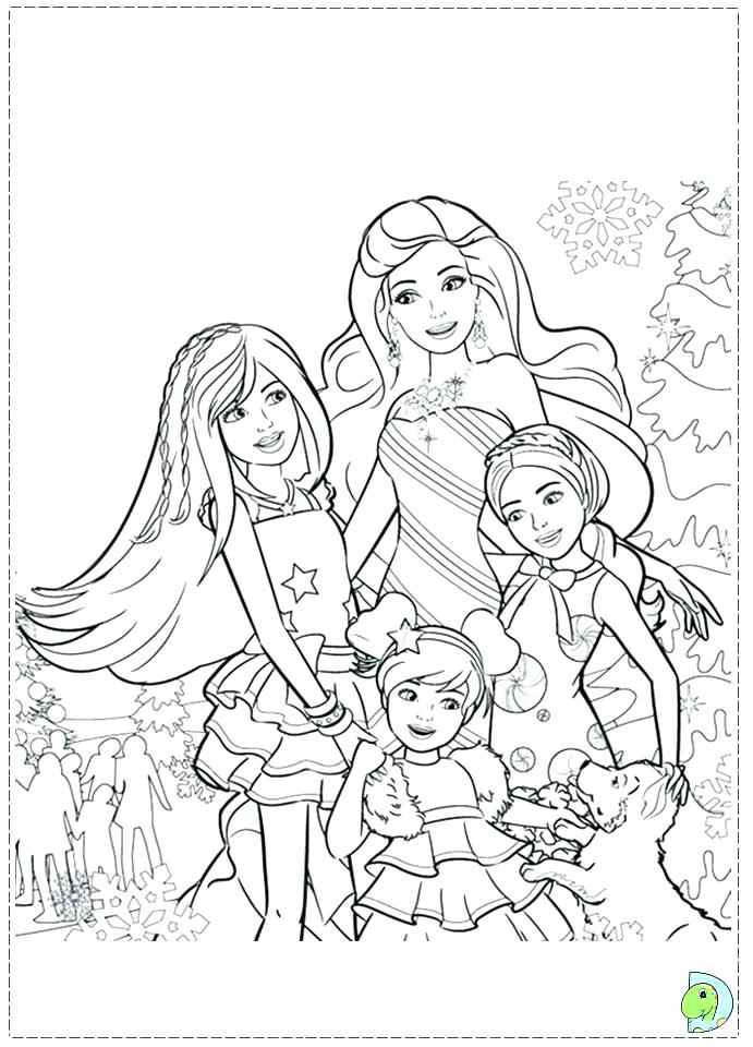 691x960 Barbie Christmas Coloring Pages Barbie Coloring Pages Barbie
