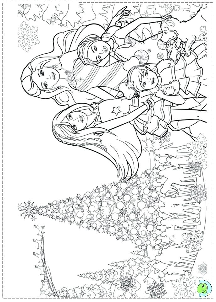 687x962 Barbie Christmas Coloring Pages Barbie Coloring Pages To Print