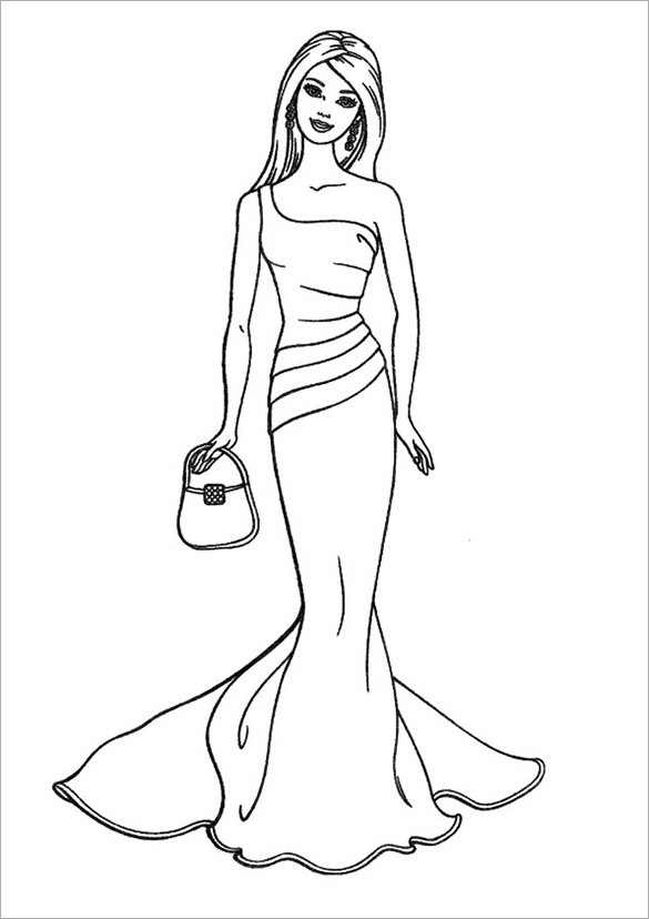 585x828 Barbie Coloring Pages Free Printable Word, Pdf, Png