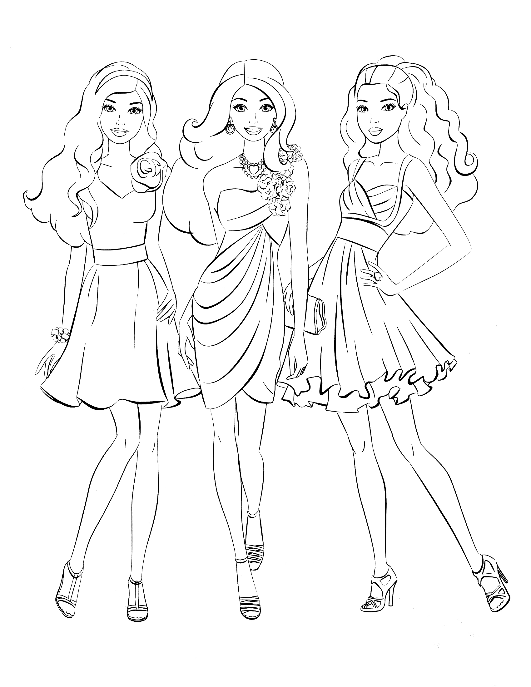 1700x2200 Best Barbie Coloring Pages Free Printable Coloring Pages Free