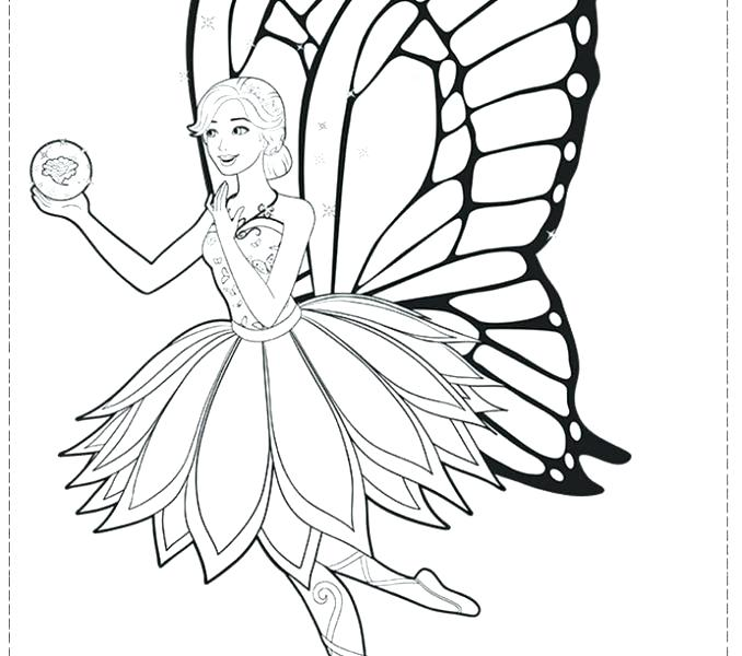 678x600 Fairy Coloring Pages For Kids Beautiful Princess Barbie Coloring