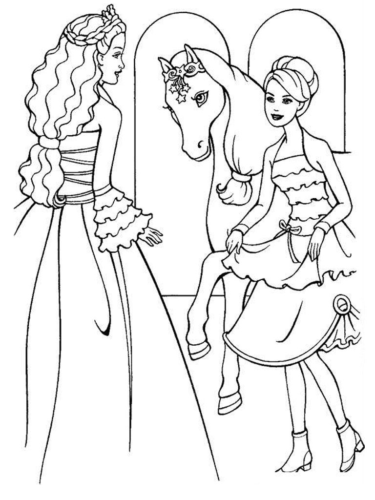 768x1024 Free Printable Barbie Coloring Pages For Kids