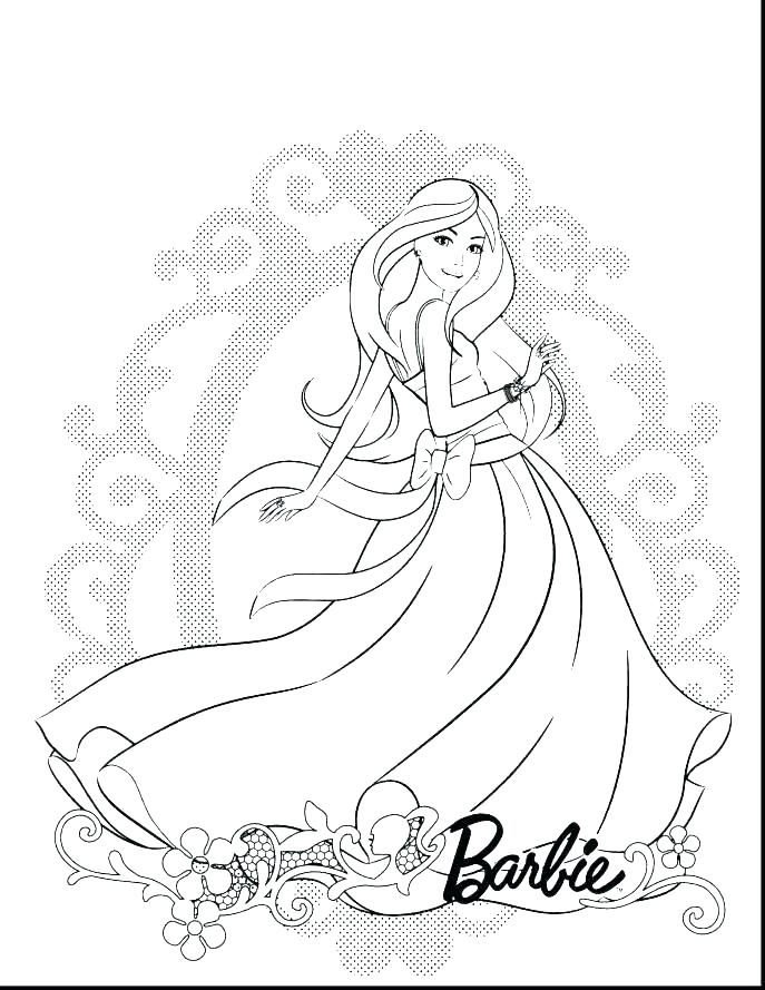 Barbie Coloring Pages For Kids At Getdrawings Com Free For