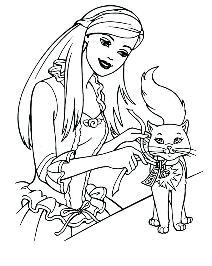 678x850 Barbie Coloring Pages Printables