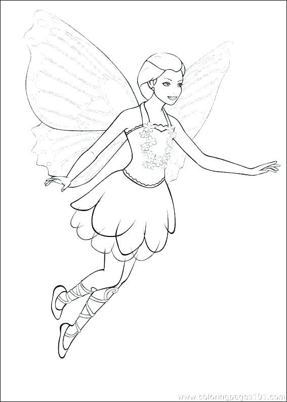 567x794 Fairy Printable Coloring Pages