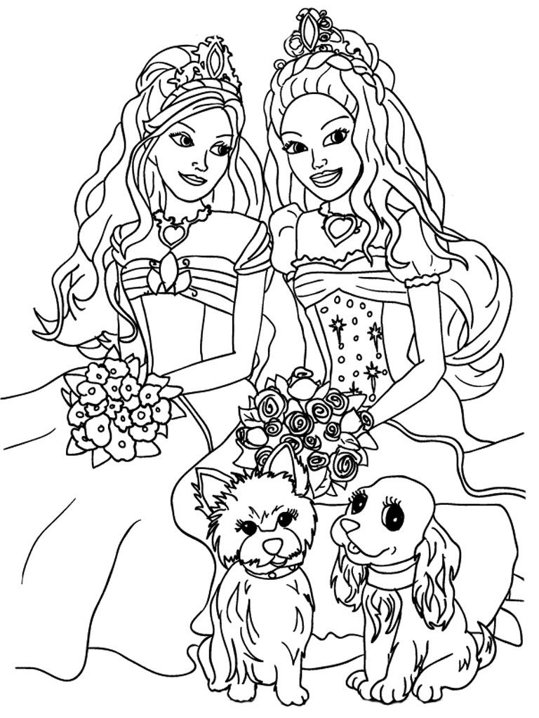 768x1024 Kids Coloring Sheets Barbie And The Diamond Castle Printable