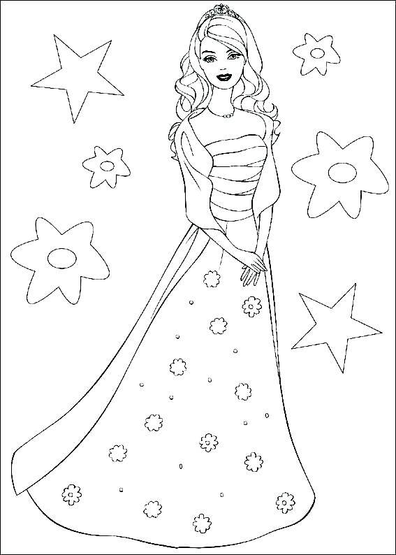 567x794 Barbie Coloring Pages Free Printable Barbie Coloring Page Barbie