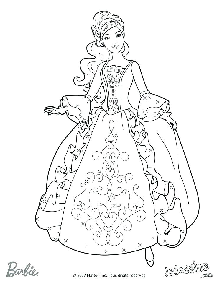 736x951 Barbie Coloring Pages Printable Coloring Princess Coloring Pages