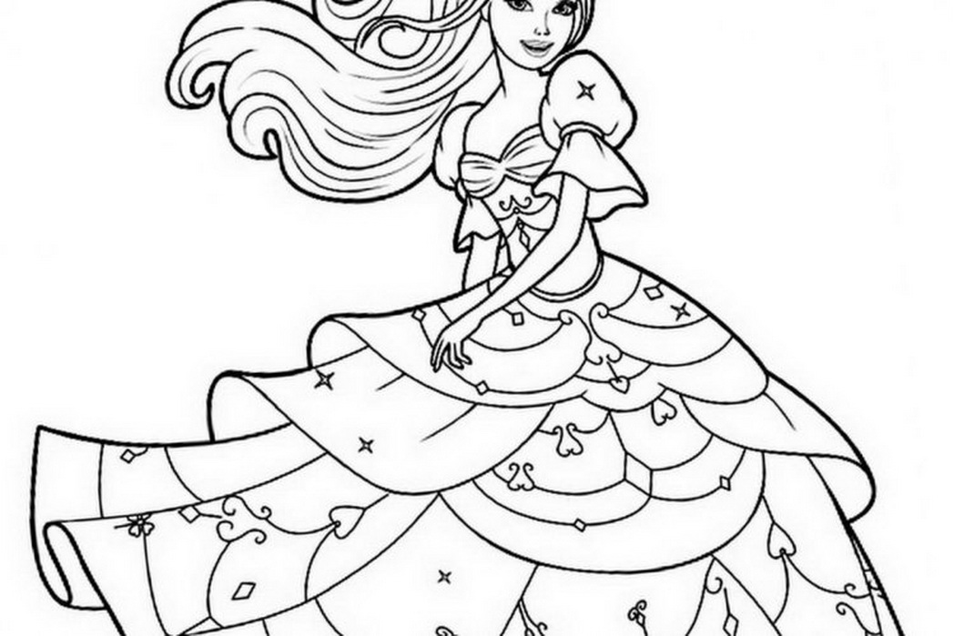 Barbie Coloring Pages To Print at GetDrawings.com | Free for ...