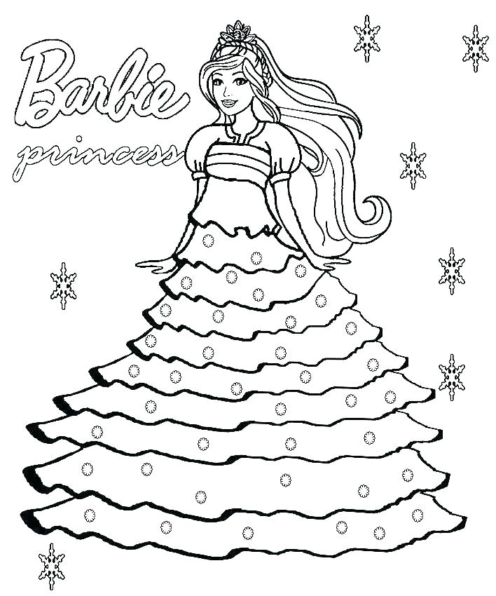 Barbie Coloring Pages To Print At Getdrawings Com Free For
