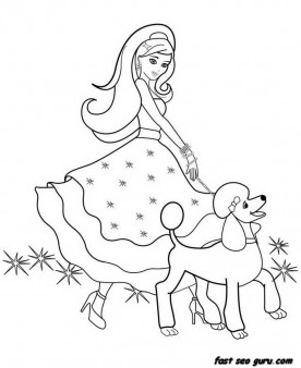 photograph regarding Barbie Coloring Pages Printable called Barbie Coloring Web pages Toward Print at  Free of charge for