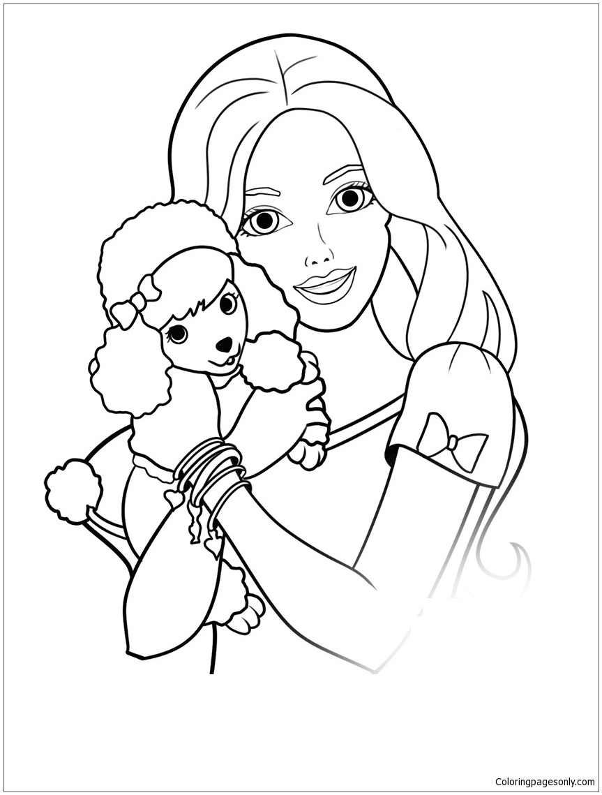 863x1139 Barbie Dog Coloring Pages Free Free Coloring Sheets