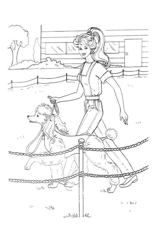 522x768 Coloring Page Barbie
