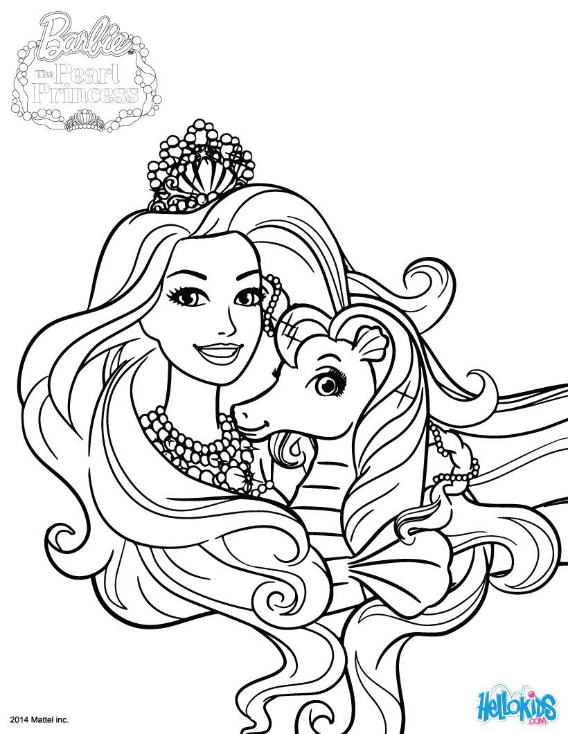 820x1060 Kuda Is Lumina's Pet Coloring Pages Barbie