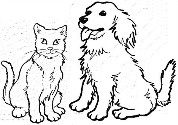 600x420 Dog Coloring Pages Free Premium Templates