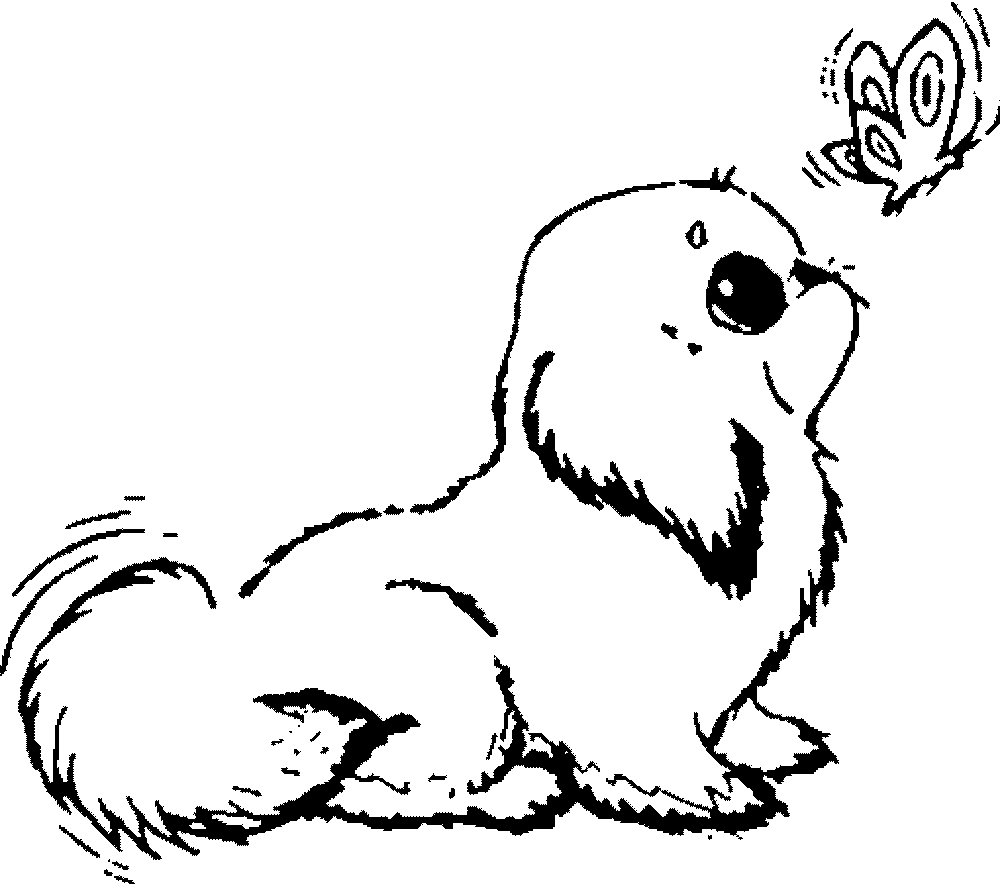 1000x884 Promising Coloring Pages Puppies Puppy Clipart