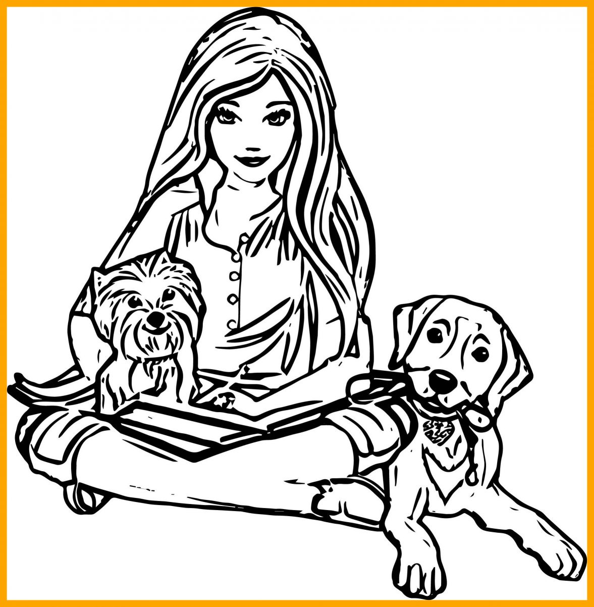 1177x1202 Puppy With Flowers Coloring Page