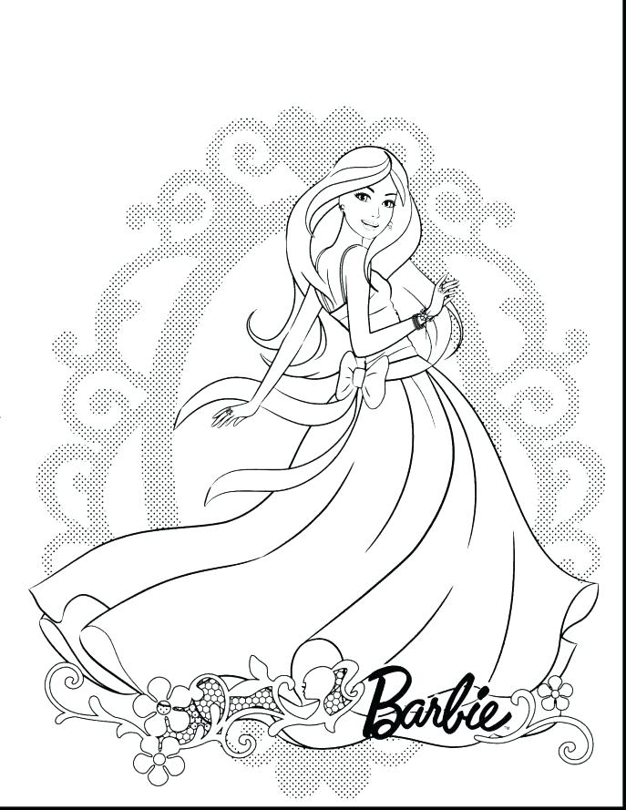 687x889 Unique Barbie Coloring Pages And Coloring Pages Of Barbie With Dog
