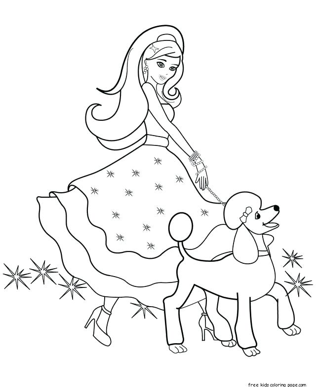 640x785 Barbie Dream House Coloring Pages