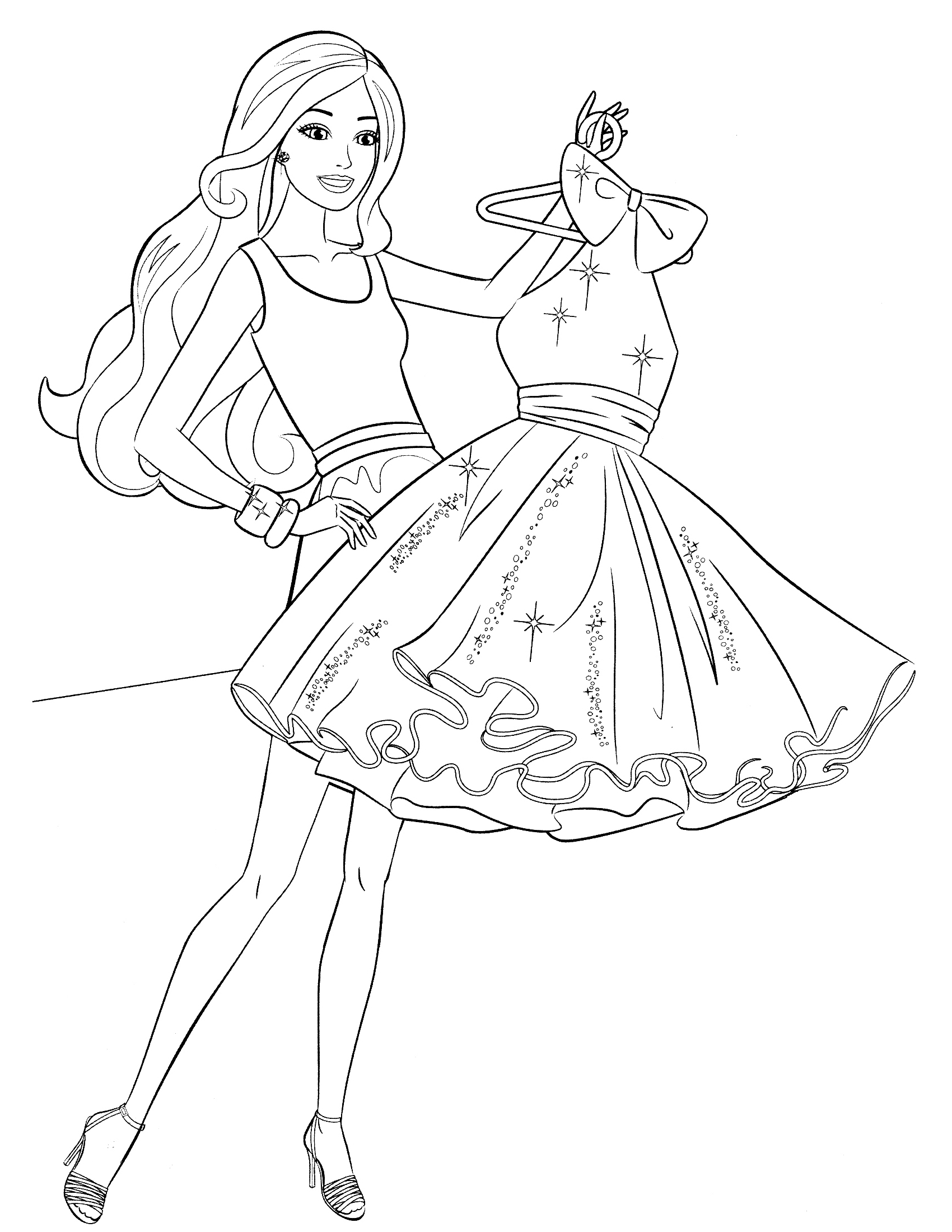 1700x2200 Barbie In The Dream House Coloring Page Barbie Coloring Pages