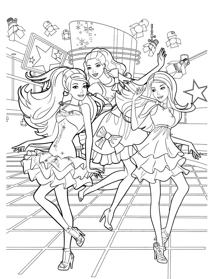 736x952 Barbie In The Dreamhouse Coloring Sheets