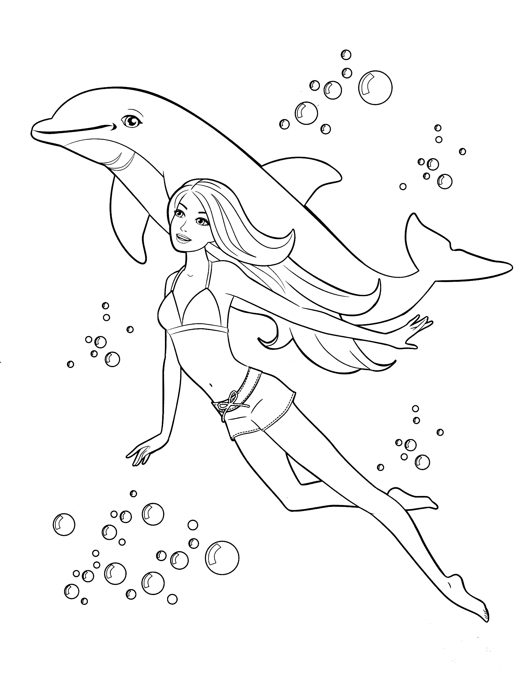 1700x2200 New Barbie Coloring Pages Kids Information And Ideas
