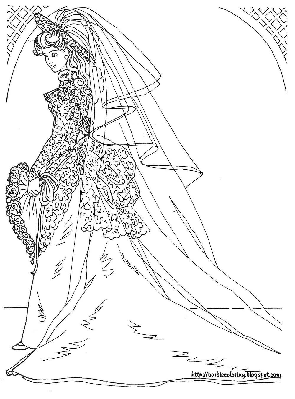 Barbie Dress Coloring Pages