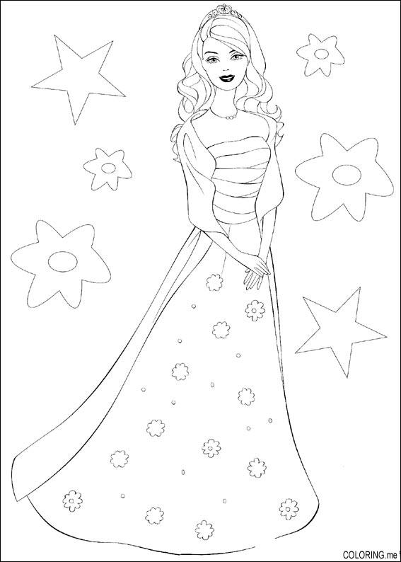 567x794 Coloring Page Barbie Dress
