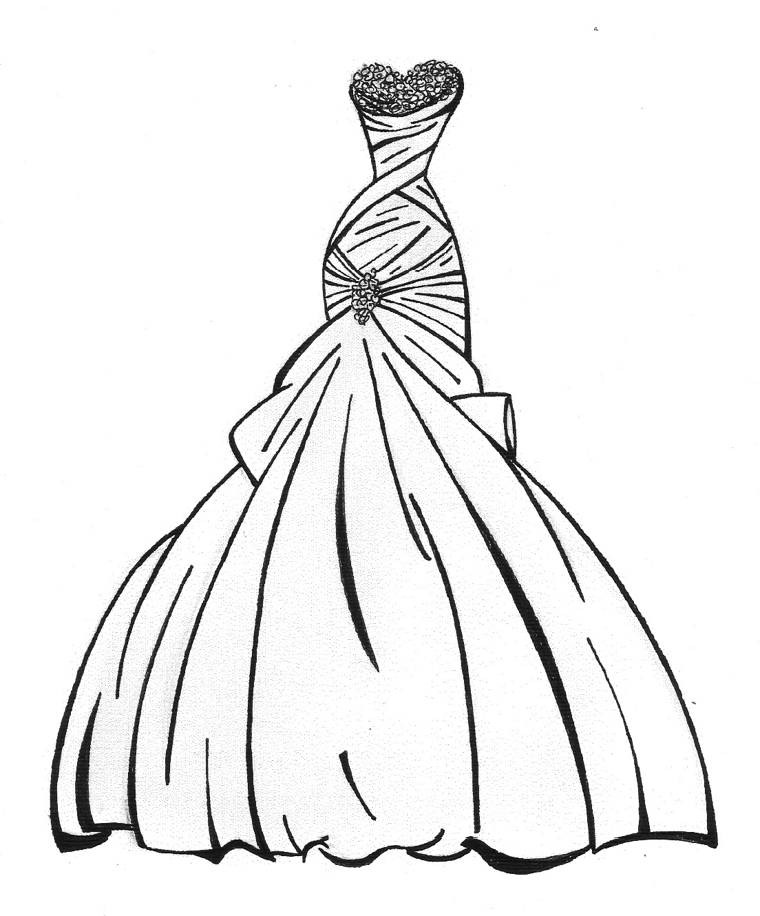 1104x1330 Dress Coloring Pages