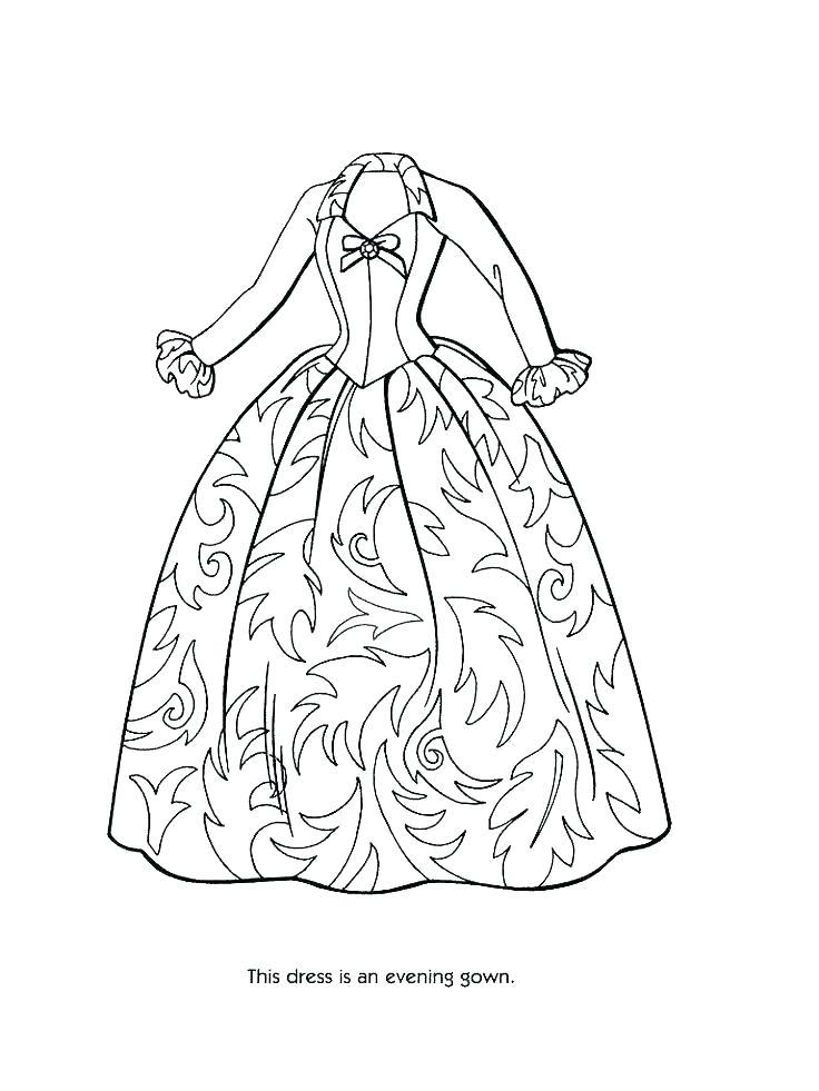736x981 Dress Coloring Pages Dress Coloring Pages Barbie Dress Up
