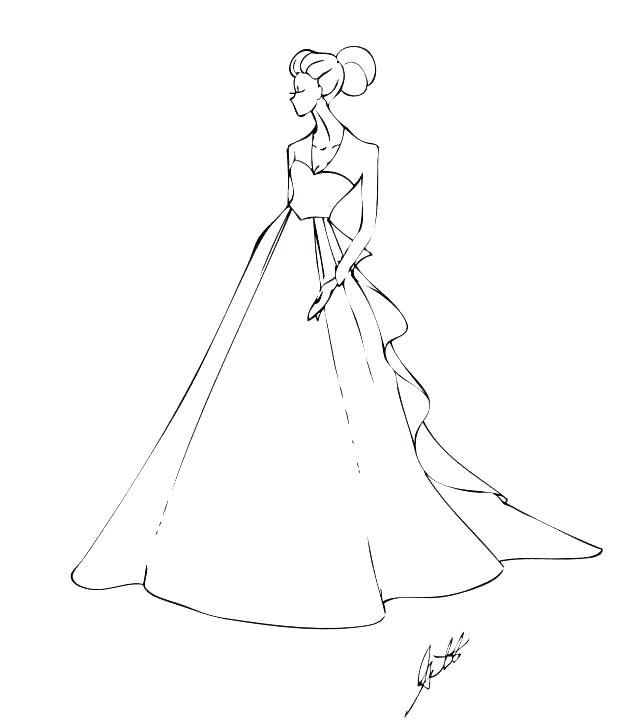 618x728 Dresses Coloring Pages Wedding Dresses Coloring Pages Wedding