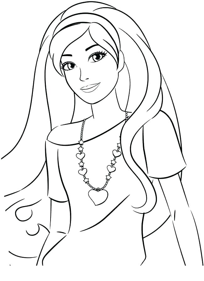 650x896 Barbie Face Coloring Pages Barbie Color Book Together With Barbie