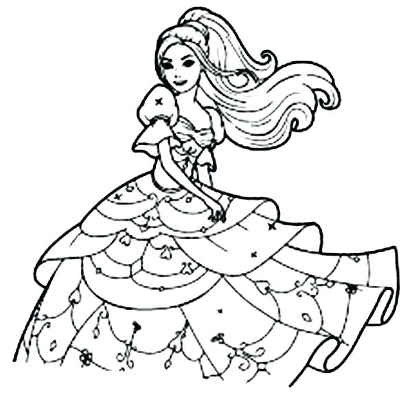 600x582 Barbie Face Coloring Pages Barbie Coloring Page Free Printable