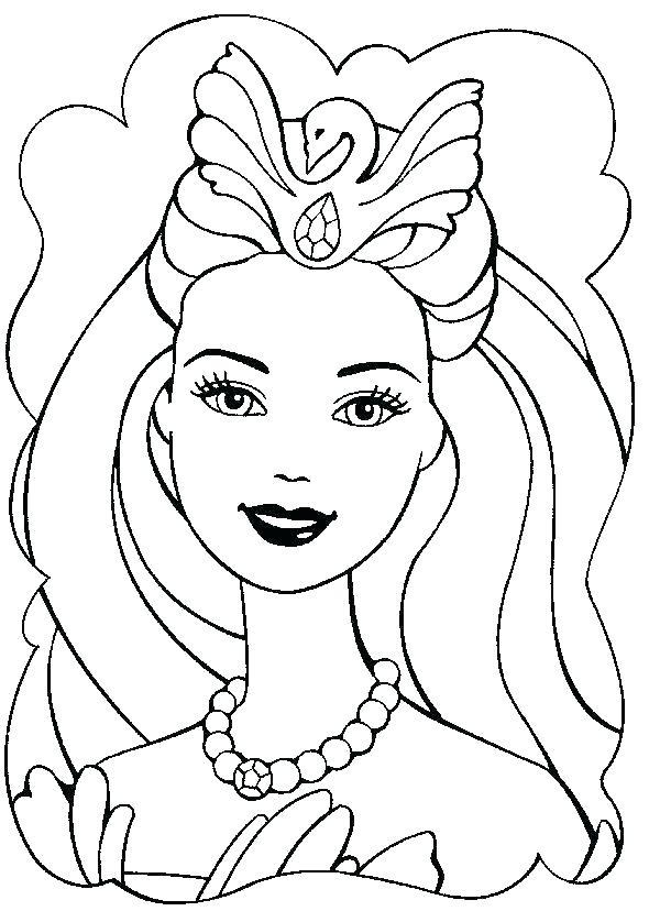 610x838 Barbie Face Coloring Pages Barbie Coloring Sheets Barbie Coloring