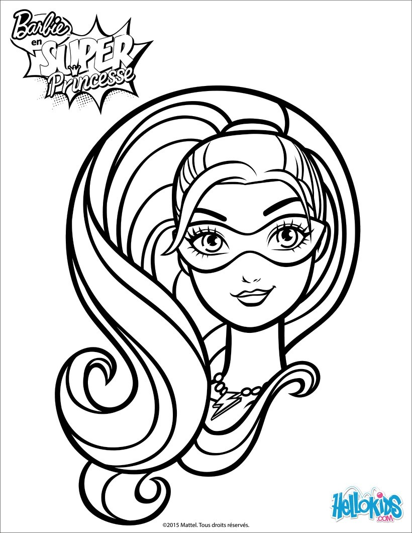 820x1060 Barbie Super Hero Coloring Pages