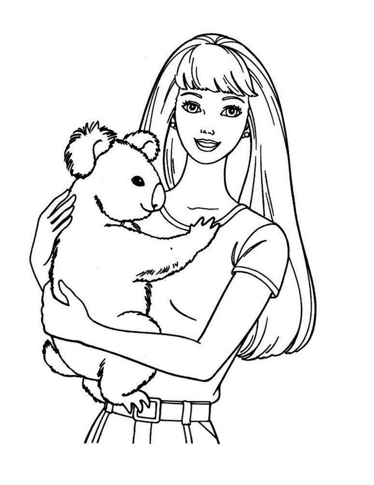 1236x1600 Disney Coloring Pages Barbie Preschool For Humorous Draw Photo