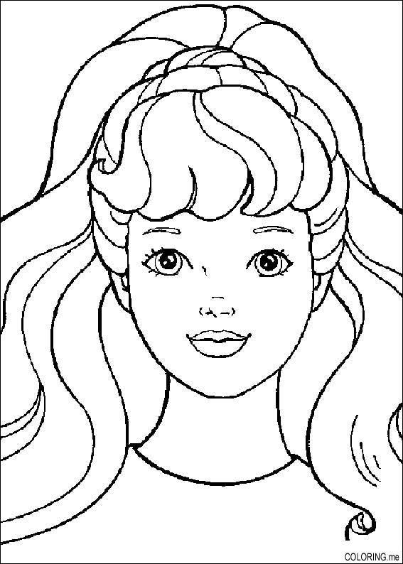 567x794 Barbie Face Coloring Pages
