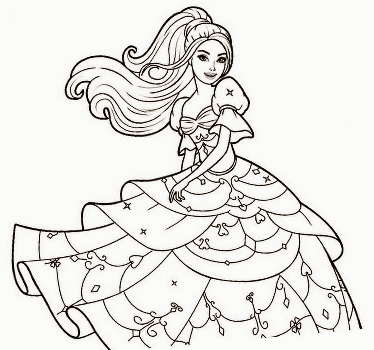 1198x1122 Now Barbie Coloring Books Pages Free