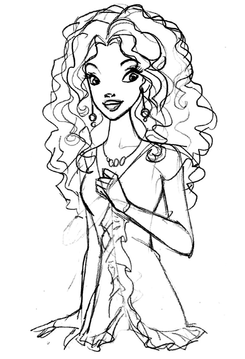 Barbie Girl Coloring Pages At Getdrawings Com Free For Personal