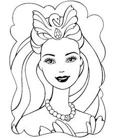228x272 Barbie Coloring Pages Free Download World Knowledge