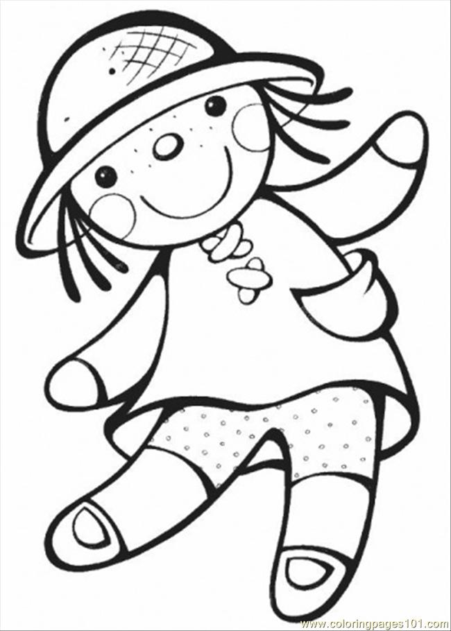 650x910 Doll Coloring Pages