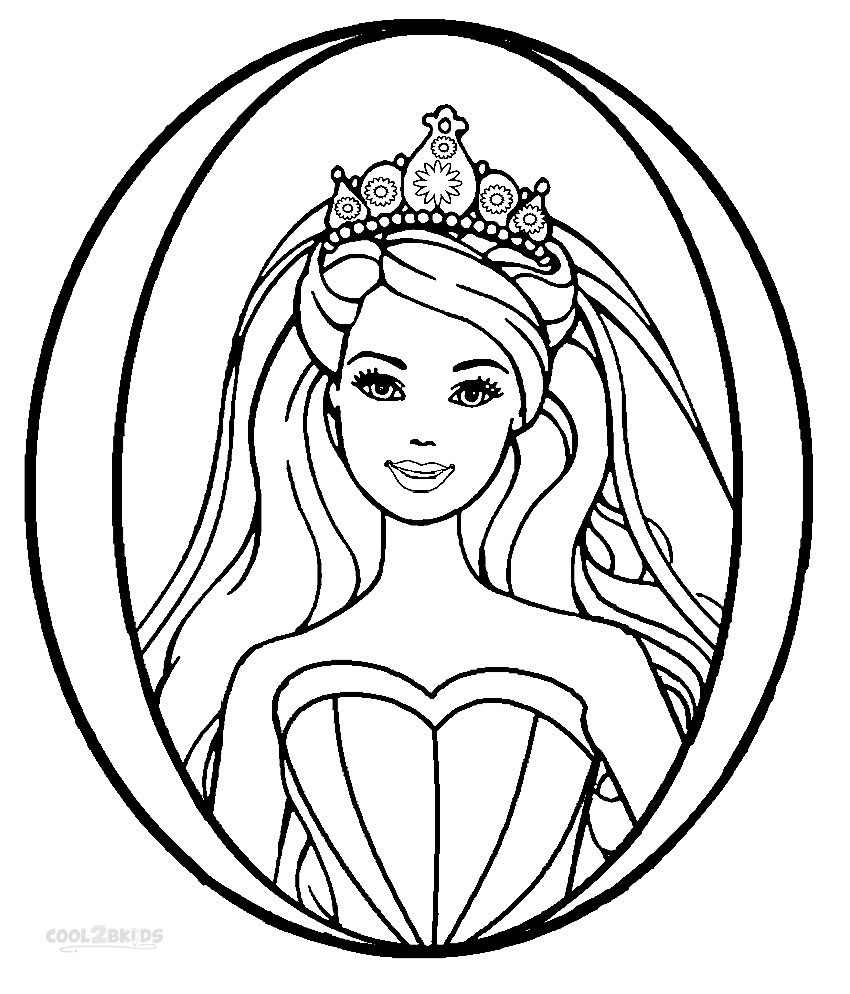 850x994 Printable Barbie Princess Coloring Pages For Kids