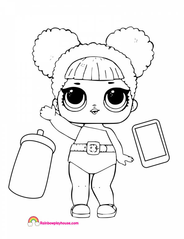 595x770 Queen Bee Lol Doll Coloring Page