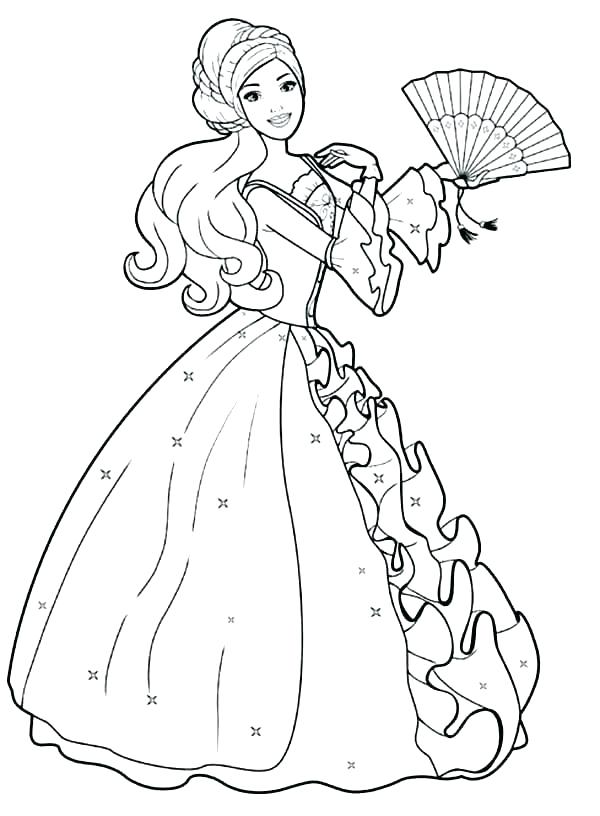 600x816 Barbie Coloring Pages For Free