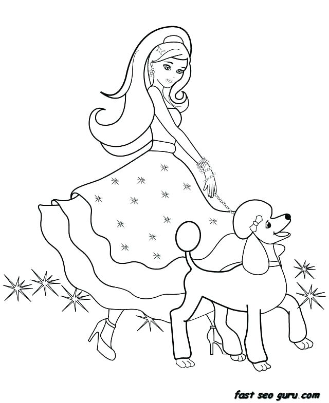 640x785 Barbie Horse Coloring Pages